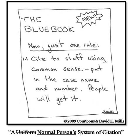 New bluebook, via Courtoons.