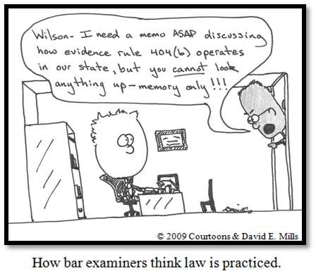 bar exam II Courtoon