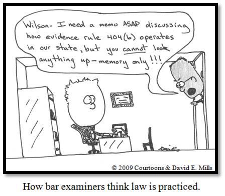 bar exam II Courtoon