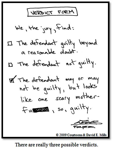 Verdict Form Courtoon